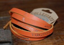 University of Virginia UVA Cavaliers - Leather Wrap Bracelet - Jewelry  - 15.99