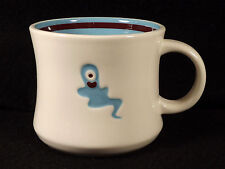 Starbucks Halloween One Eyed Blue Ghost Coffee Mug Tea Cup 2006 Porcelain White