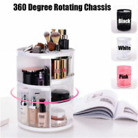 360 Degree Rotating Makeup Organizer Jewelry Cosmetic Lipstick Storage Box