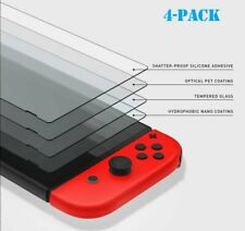 (4 Pack) Nintendo Switch Premium 9H Tempered Ultra Clear Glass Screen Protector