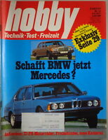 Hobby Magazine Booklet No. 10 1977 With BMW 7er E23 And Mercedes S CLASS W126
