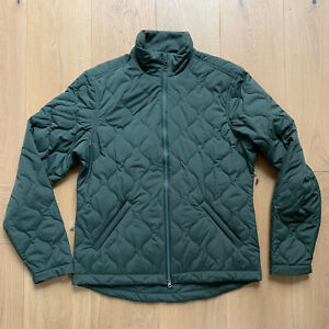 Taylor Stitch, Men's Vertical Quilted Puffer Jacket, Olive, Medium, New
