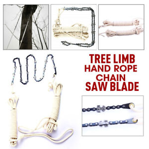 48 Inch High Reach Tree Limb Hand Rope Chain Saw Blades on Both Sides BOTH Sides
