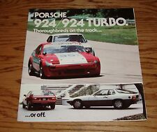 Original 1981 Porsche 924 / 924 Turbo Foldout Sales Brochure 81