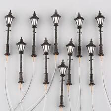 10pcs O Scale 1:50 Model Railway LED Lamppost Lamps Antique Street Lights 3V