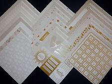 12X12 Scrapbook Paper Cardstock Baby Love Nursery Newborn White Baptism 24 Lot