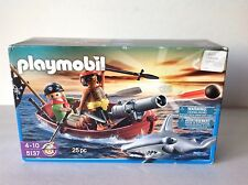 Playmobil 5137 Pirates With Cannon Boat And Shark New Factory Sealed!