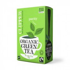 Clipper Organic Green Tea 4 Boxes 100 Enveloped Tea Bags Free Delivery