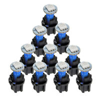 10x PC74 T5 LED Blue Twist Socket Instrument Panel Cluster Plug Dash Light Bulb