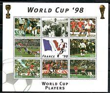 SELLOS DEPORTES FUTBOL. LIBERIA 1998 1545/52 MUNDIAL FRANCIA 98. LINEKER/CRUYFF