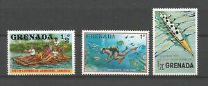 Grenada sports nautiques 3 timbres non oblitérés MNH /T8858