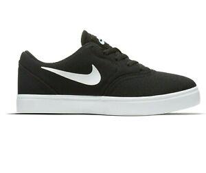 Nike SB Check Canvas (GS) Black White Grade School Skateboard Shoe 905373 003
