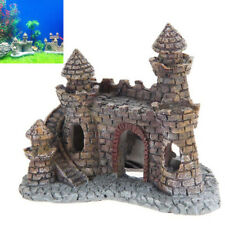 Resin Tower Castle Garden Aquarium Ornament Fish Tank Decor Accessories Cute