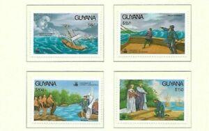 Guyana 1992 Columbus' Explorations issues MNH