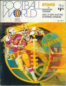 1974 New York Stars vs Houston Texans program, WFL