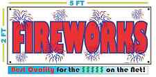 FIRE WORKS Full Color Banner Sign 2x5