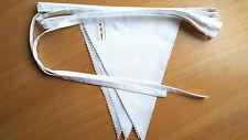 Tessuto Bianco Bunting 10ft 3m per Festa Matrimonio BATTESIMO DECORAZIONI CASA