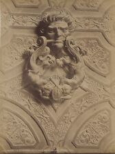 Tolède Toledo Détail de la porte des Lions Espagne Vintage Albumine ca 1880