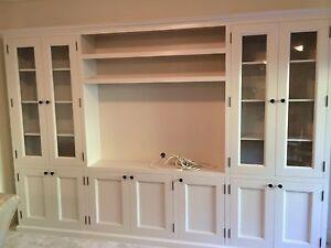 """Hampton"" Classic Integrated Wall TV Unit Bookshelf Living Room Furniture"