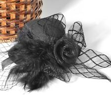 Headwear Lady Hair Accessory Fascinator Mini Top Hat Feather Clip Wedding Party