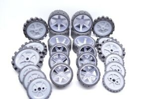 K'NEX Wheels Mixed lot of 4 sets of 6 = 24 wheels