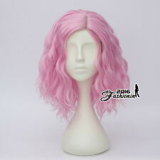 Pink Short Curly Synthetic Hair Cosplay 35CM Fashion Lolita Style Women Full Wig
