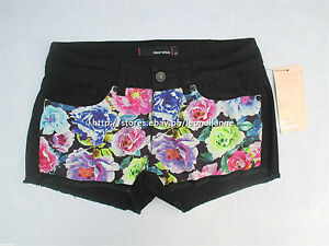 60% OFF AUTH TALLY WEIJL FLORAL FRONT COTTON SHORTS SIZE 28 / EU 34 BNWT € 19.95