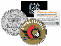 OTTAWA SENATORS NHL Hockey JFK Kennedy Half Dollar U.S. Coin * LICENSED *