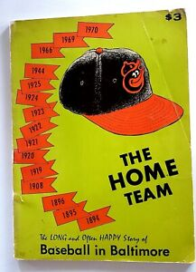1971 The Home Team Baltimore Orioles history vintage baseball Book  Brooks Robby