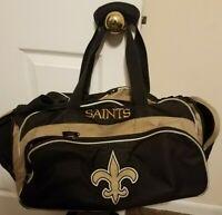 "Vintage New Orleans Saints NFL Gym Travel Luggage Medium Duffel Bag 22"""