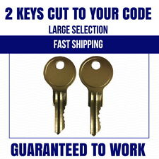 (2) Husky Tool Box Keys  R601-R620 A01-A20  Home Depot Keys