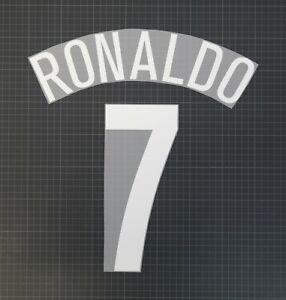 RONALDO #7 2004-2006 Player Size Champions League White Nameset Plastic