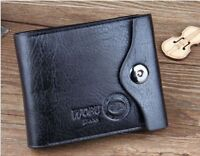 MENS SOFT GENUINE REAL LEATHER BIFOLD BROWN WALLET CREDIT CARD HOLDER COIN PURSE