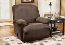 Sure Fit Stretch Leather Recliner in Brown