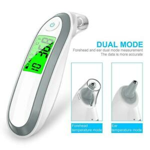Dual LCD Ear Thermometer Medical Baby Adult Safe Temperature Oral Case ET12