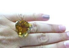 Fine Gorgeous 30Ct Heart Citrin Gem Ring Yg 14Kt