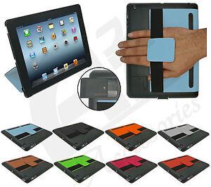 Nuevo Ultra Delgado Elegante Soporte Funda Con Hand strap Para Apple IPAD 4 3 2