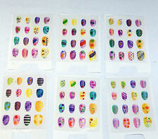NEW 96 X ASSORTED NAIL ART DESIGNS WITH GLITTER