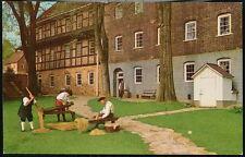 WINSTON SALEM NC Old Salem Single Brothers House Craft Demos Vintage Postcard