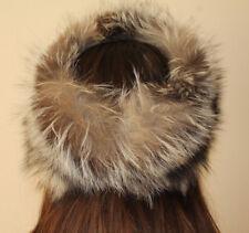 Loro Piana Women's Blue Frost Fox Fur Headband Size M Medium Good Used Condition