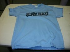SOUTH BEND SILVER HAWKS T-SHIRT - LT. BLUE - YOUTH LARGE