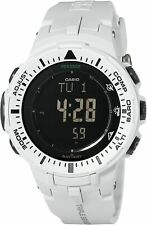 Casio Men's PRG-300-7 Pro Trek Triple Sensor Solar Quartz Off-White Watch