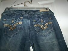 Almost Famous Women's Size 7 Distressed Stretch Skinny Jeans Button Pockets