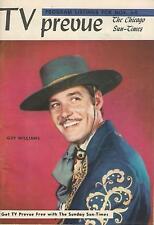 RARE 1957 ZORRO TV PREVUE MAGAZINE GUIDE REGIONAL GUY WILLIAMS