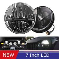 2X 7 Inch 40W LED Headlight High/Low Beam for Jeep Wrangler JK CJ LJ TJ