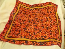 """Vintage Silk Scarf from Anne Klein, w/Tag, Signed, Scarf 21"""" Square"""