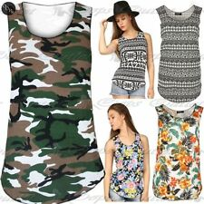 Unbranded Floral Sleeveless T-Shirts for Women