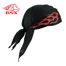 BSX® Doo Rag - Black w/Red (Free Shipping Australia Wide)