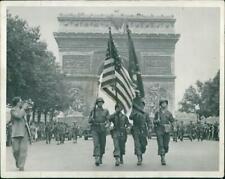 Paris liberation, World War II black white - 8x10 photograph