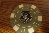 U.S.A.F. Aerospace Defense Command Poker Chip,Golf Ball Marker,Card Guard   s